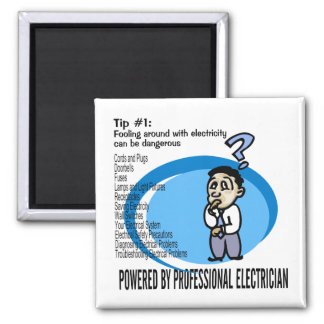 Electric Tip #1 2 Inch Square Magnet