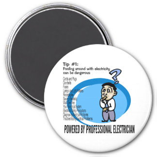 Electric Tip #1 3 Inch Round Magnet