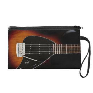 Electric to guitar wristlet clutches