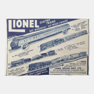 Electric Train Advert from 1936 kitchen towel