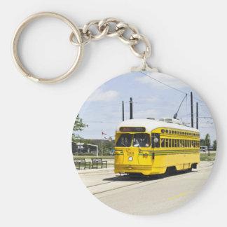 Electric Tram Keychain