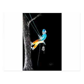 Electric  Tree Surgeon Arborist stihl chainsaw Postcard