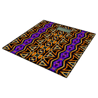 Electric Tribal Orange Purple Bathroom Scales Bathroom Scale