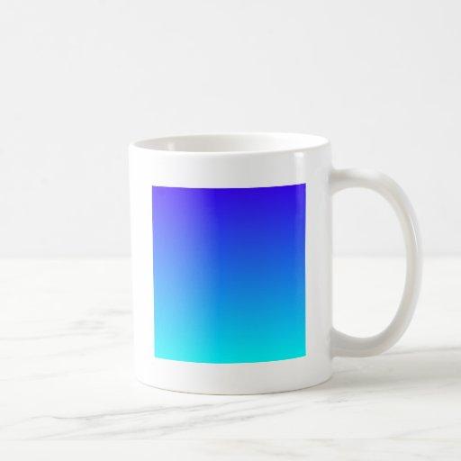 Electric Ultramarine to Electric Cyan H Gradient Coffee Mug