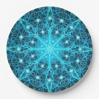Electric Universe Mandala Paper Plate