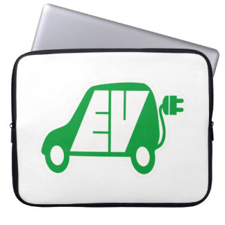 Electric Vehicle EV Icon Logo - Laptop Sleeve