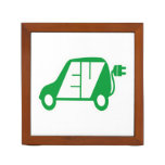 Electric Vehicle EV Icon Logo - Pencil Holder