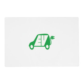 Electric Vehicle EV Icon Logo - Placemat