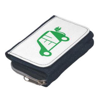 Electric Vehicle EV Icon Logo - Wallet - Purse