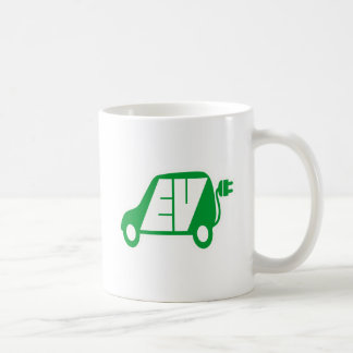 Electric Vehicle Green EV Icon Logo - Coffee Mug