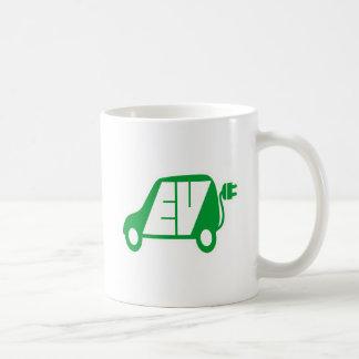 Electric Vehicle Green EV Icon Logo - Coffee Mug