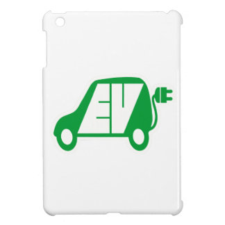 Electric Vehicle Green EV Icon Logo - iPad Mini Covers