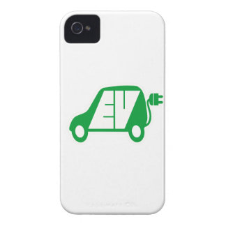 Electric Vehicle Green EV Icon Logo - iPhone 4 Cover