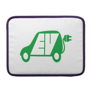 Electric Vehicle Green EV Icon Logo - MacBook Sleeve