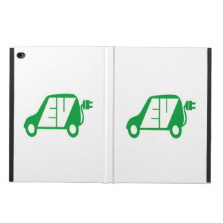 Electric Vehicle Green EV Icon Logo - Powis iPad Air 2 Case
