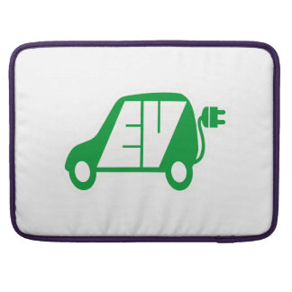 Electric Vehicle Green EV Icon Logo - Sleeve For MacBook Pro