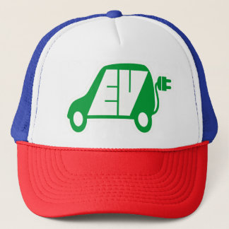 Electric Vehicle Green EV Icon Logo - Truckers Hat