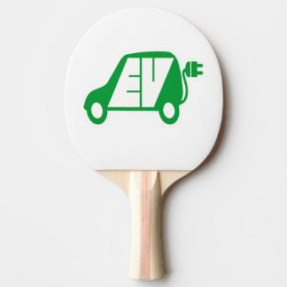 Electric Vehicle Icon Logo - Ping Pong Paddle