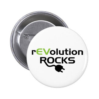 Electric Vehicles Rocks 2 Inch Round Button