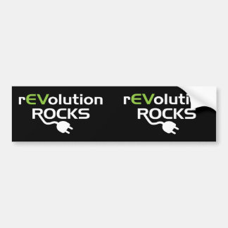 Electric Vehicles Rocks Bumper Stickers