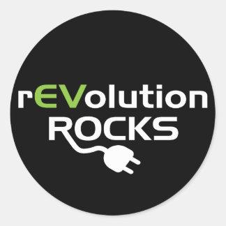 Electric Vehicles Rocks Classic Round Sticker