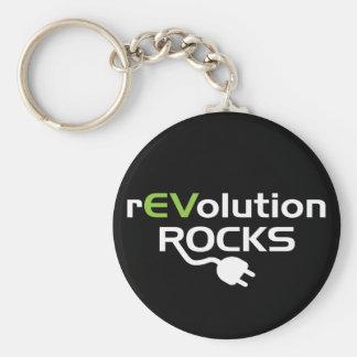 Electric Vehicles Rocks Keychain