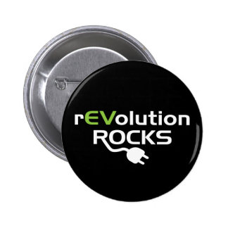 Electric Vehicles Rocks Pinback Buttons