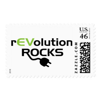 Electric Vehicles Rocks Postage Stamps
