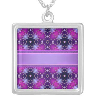 Electric Velvet Silver Plated Necklace