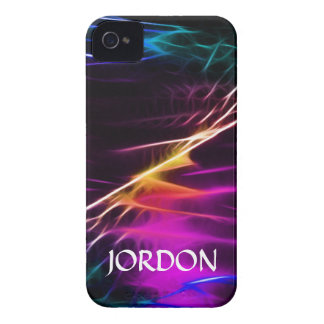 Electric violet love and peace iPhone 4 cases