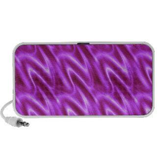 Electric Violet Satin Fabric Pattern Mini Speaker