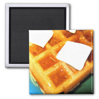Electric Waffles 2 Inch Square Magnet