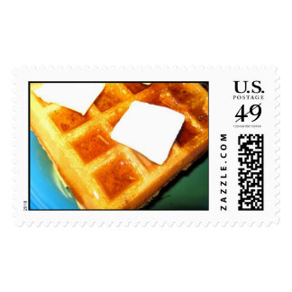 Electric Waffles Postage Stamp