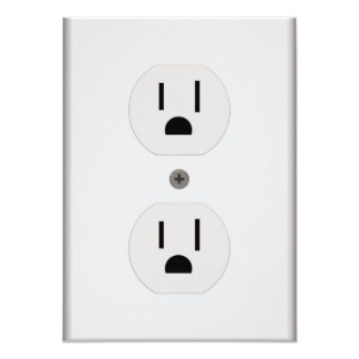 Electric Wall Outlet 4.5x6.25 Paper Invitation Card
