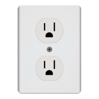 Electric Wall Outlet 5x7 Paper Invitation Card