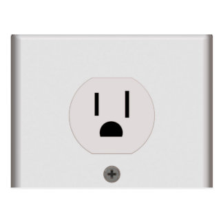 Electric Wall Outlet Postcard