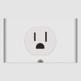 Electric Wall Outlet Rectangular Sticker