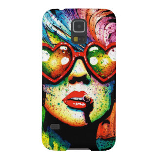 Electric Wasteland Heart Shaped Sunglasses Pop Art Galaxy S5 Case