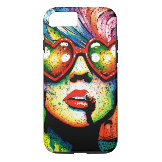 Electric Wasteland Heart Shaped Sunglasses Pop Art iPhone 7 Case