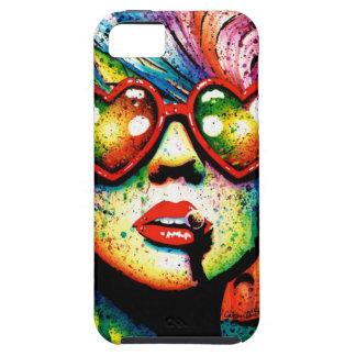 Electric Wasteland Heart Shaped Sunglasses Pop Art iPhone SE/5/5s Case