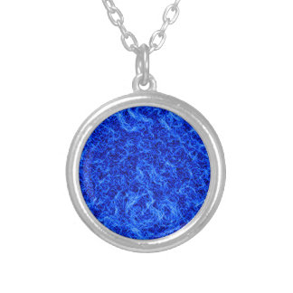 Electric water silver plated necklace