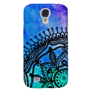 Electric Watercolor Mandala Samsung Galaxy 4S Case Galaxy S4 Cover