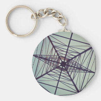 ELECTRIC WEB: Power & Nature Basic Round Button Keychain