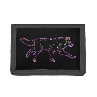 Electric Wolf Tri-fold Wallets