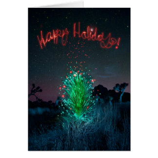 Electric Xmas Yucca Tree Card