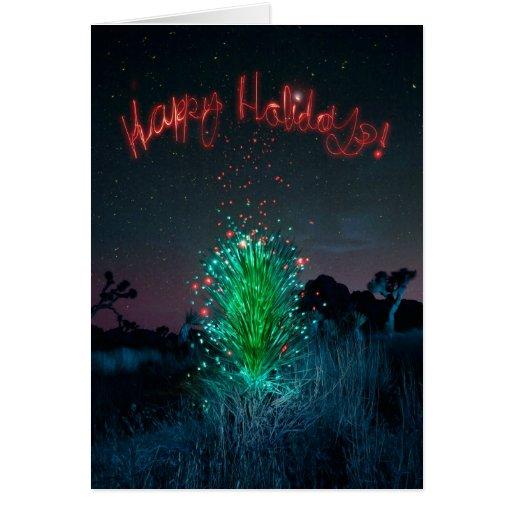 Electric Xmas Yucca Tree Card