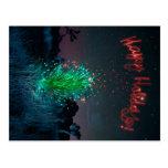 Electric Xmas Yucca Tree Postcard