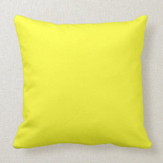 ELECTRIC YELLOW (a solid electrifying color) ~ Pillow