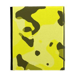 Electric Yellow Camo; Camouflage iPad Folio Case