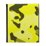 Electric Yellow Camo; Camouflage iPad Case